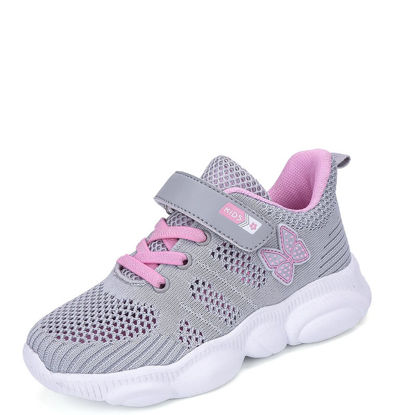 Picture of Girls' Casual Shoes Fashion Bear Pattern All-Match Breathable Comfortable Shoes - Size: 34