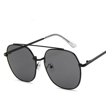 Picture of Men's Sunglasses Oversized Metal Frame Design Trendy Accessory- Size: One Size