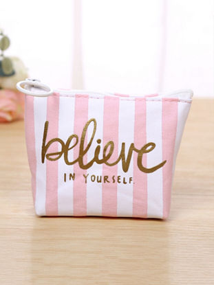 Picture of Change Bag Ladylike Pink Letter Themed Stunning Coin Purse Bag