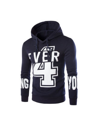 صورة Men's Hoodie Long Sleeve Hooded Number Print Cozy Pullover- Size: XL