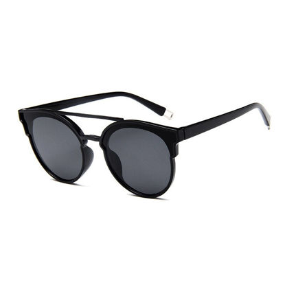 Picture of Men's Sunglasses UV Protection Round Frame All Match Eyewear- Size: One Size