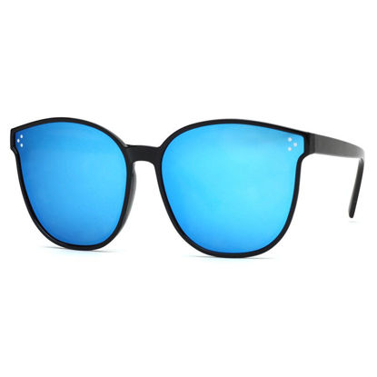 صورة Women's Sunglasses Stylish Big Shape Frame Contrast Color Chic Accessory- Size: One Size