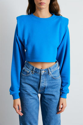 Picture of Turkish blue quilted sweatshirt