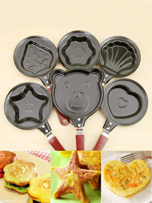Picture of 6 PCS Frying Pans Set Cartoon Cute Non Sticky Omelette Egg Fry Pans