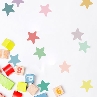 Picture of Children's Cartoon Bedside Bedroom Background Wall Multi-Color Stars Wall Sticker