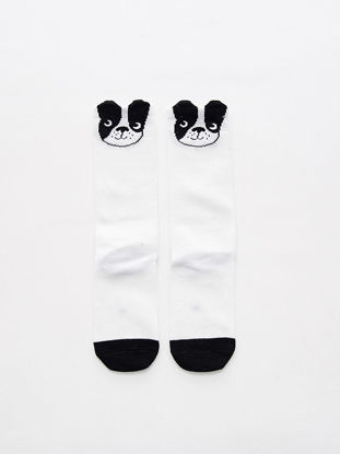 Picture of Baby Girl's Socks Bulldog Pattern Cute 1 Pair Baby Accessory - Size: M