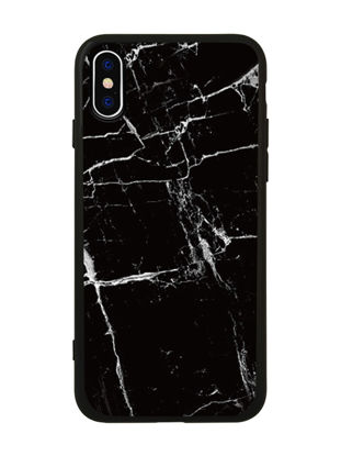 Picture of IPhone X Cover Marble Pattern Case Black - Size: IPhone X