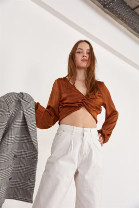 Picture of Copper Knotted Satin Top