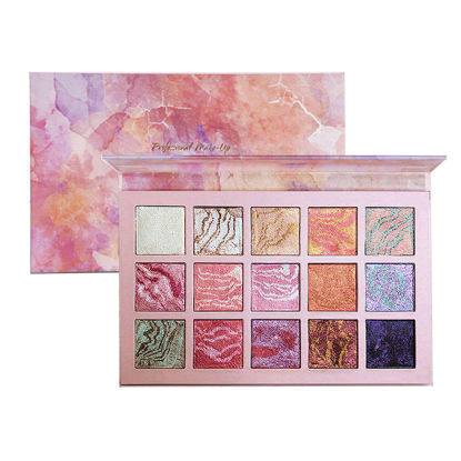 Picture of 15 Colors Moongate Ambient Lighting Blush Eyeshadow Palette Luminous Pigment Eyeshadow