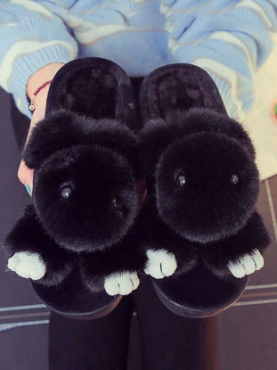 Picture of Women's Slippers Cute Design Comfy Soft Rabbit Warm Antiskid Soft ShoesSize: 36-37