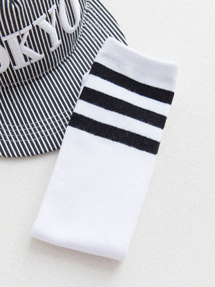 Picture of Kid's Socks Athletic Striped Breathable Comfy Stylish SocksSize: 45cm