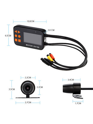 Picture of Motorcycle Drive Recorder High Definition Dual Lens Support Night Vision Motorcycle Accessories Black-