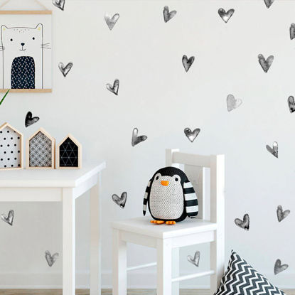 Picture of 6Pcs Wall Stickers Fashion Loveliness Simple Heart Creative Home Bedroom Decorate Wall Decoration-