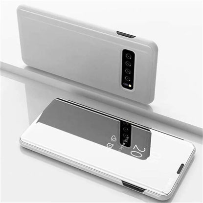 Picture of Samsung Series Smart Sleep Function Clear View Window Electroplate Plating Phone Case-Size: Samsung S10 Plus