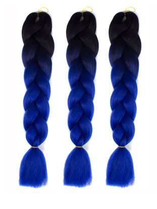 Picture of Women's Wig Fashion Colorful Decoloration Big Long BraidSize: 24 inch