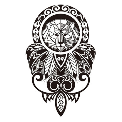 Picture of Men's Tattoo Sticker Lion Pattern Waterproof Temporary Creative Tattoo-Size: One Size