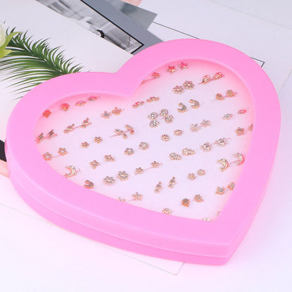 Picture of 36 Pairs Women's Studs Set Ladylike Delicate Earrings Accessory-Size: One Size