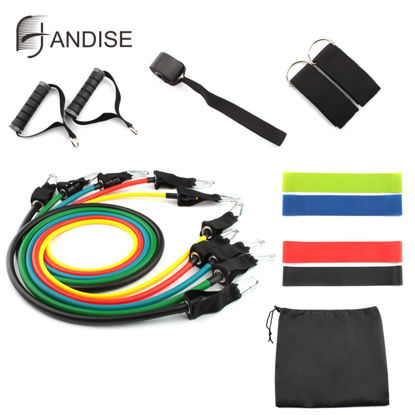 Picture of HANDISE 16 Pcs Spring Exerciser Set Resistance Loop Fitness Bands-
