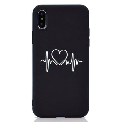 Picture of iPhone XS/XR/XS Max/X/8/8 Plus/7/7 Plus/6/6S/6 Plus/6S Plus/5/5S/SE Phone Cover Love Heart Pattern Case-Size: iPhone XS Max