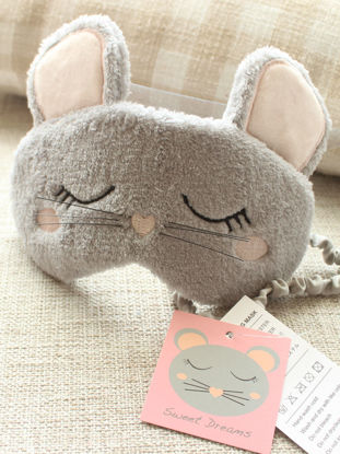 Picture of Eye Shade Soft Adorable Mouse Shape Comfy Eye Patch - Size: Free
