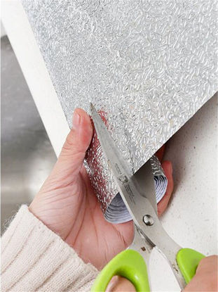 Picture of 40cm*200cm Kitchen Oil Stickers Waterproof Moisture Cabinet Mats Drawer Mat - Size: One Size