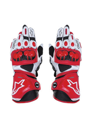 Picture of Motorcycle Glove Racing Henuine Leather Motorbike Gloves - Size: L