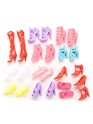 """Picture of 10 Pairs Colourful Lovely Dolls Shoes High Heels Sandals For 11"""" Dolls Accessories - Size: One Size"""
