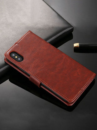 Picture of iPhone Case Wallet Type PU Leather Business Flip Cover - Size: iPhone XR