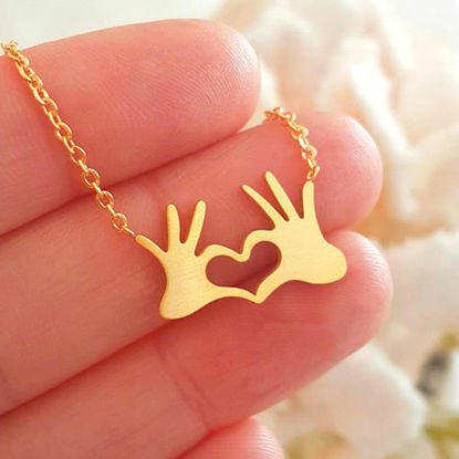 Picture of Women's Fashion Necklace Creative Heart Shape Classic Necklace Accessory - Size: One Size