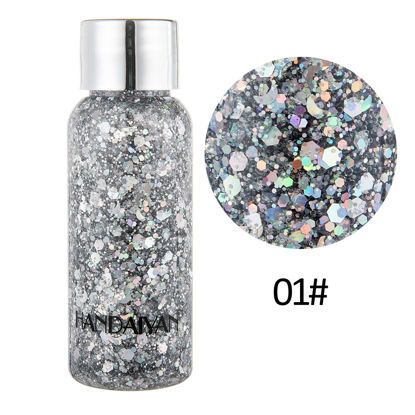 Picture of Body Glitter Gel Face Hair Nail Eye Glitters for Art Flash Loose Sequins Cream Party Makeup Festival Decoration