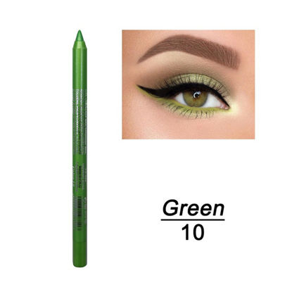 Picture of 2Pieces Colourful Pigment Eyeliner Pencil Long Lasting Waterproof Contouring Eyes Pen