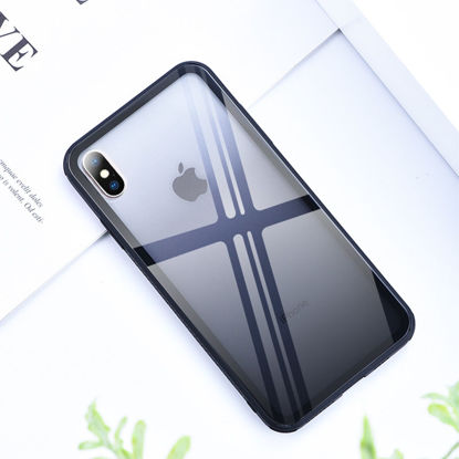 Picture of iPhone Cover Fashion Solid Color TPU+Glass Case - Size: iPhone XS