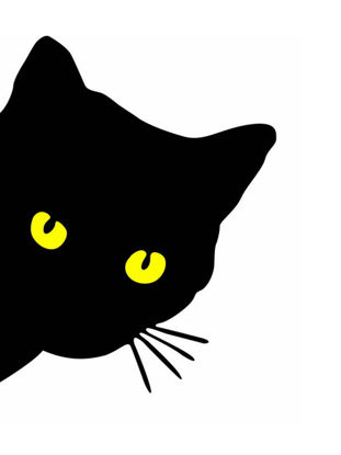 Picture of Vehicle Sticker Reflective Gold Eyes Black Cat Removable Waterproof Sticker - Size: One Size