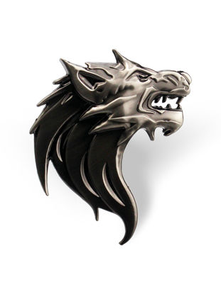 Picture of Car Sticker Metal Wolf Head Refitting Decal