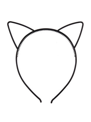 Picture of Women's Hairband Plastic Cat Ear Solid Color Brief Style Adorable Hair Accessory - Size: Free