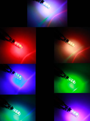 Picture of Car LED Light Silicon 5050 6SMD Colorful RGB Side Light Interior Light Lamp