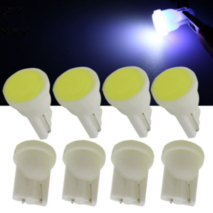 Picture of 10 Pcs Car LED Width Lights T10 COB Ceramic Light SMD Compartment License Plate Lights