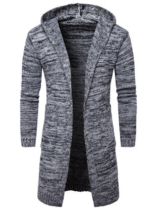 Picture of Men's Cardigan Coldproof All Match Chic Warm Cardigan - Size: M