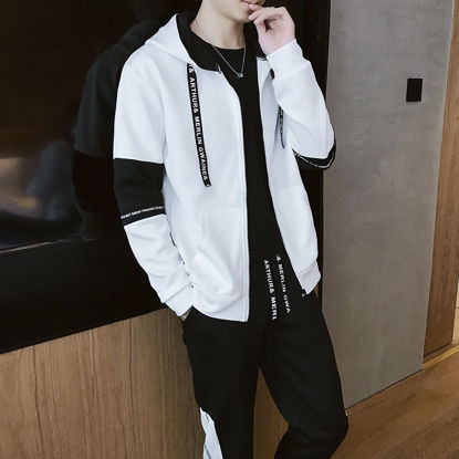 Picture of Sweater male Dongji junior high school students trend casual sportswear suit jacket - Size: 3XL