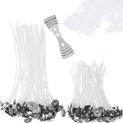 Picture of 101Pcs Candle Making Kit 100Pcs 10/15CM Candle Wicks And 1Pc Wick Holder DIY Candle Kit - Size: L