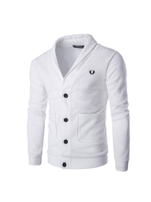 Picture of Men's Cardigan Sweater Fashion Style Solid Color Knitwear(The Size Is A Little Smaller) - Size: XL