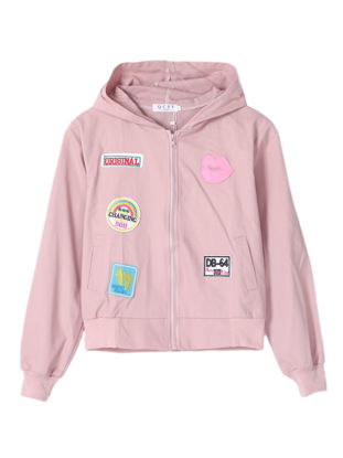 صورة Women's Bomber Jacket Appliques Casual Outwear - Size: L