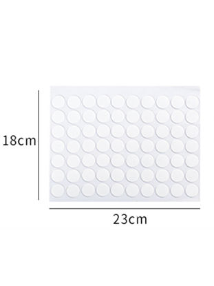 Picture of 70Pcs Acrylic Double Sided Adhesive Tapes Transparent Waterproof Round Shape Tapes - Size: One Size