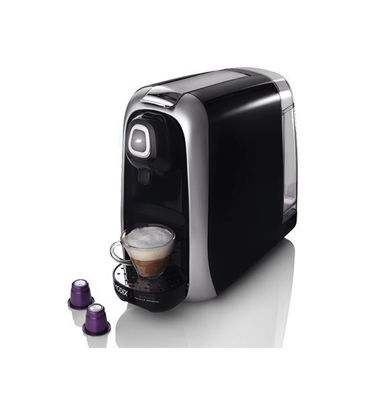 Picture of Espresso coffee maker with red capsule